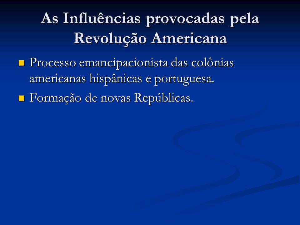 As Influências provocadas pela Revolução Americana