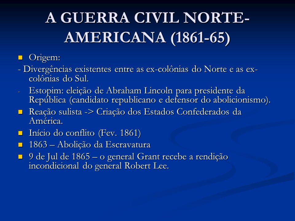 A GUERRA CIVIL NORTE-AMERICANA (1861-65)