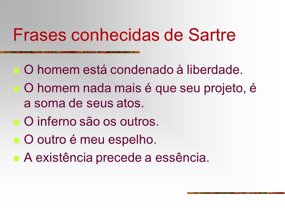 Frases conhecidas de Sartre