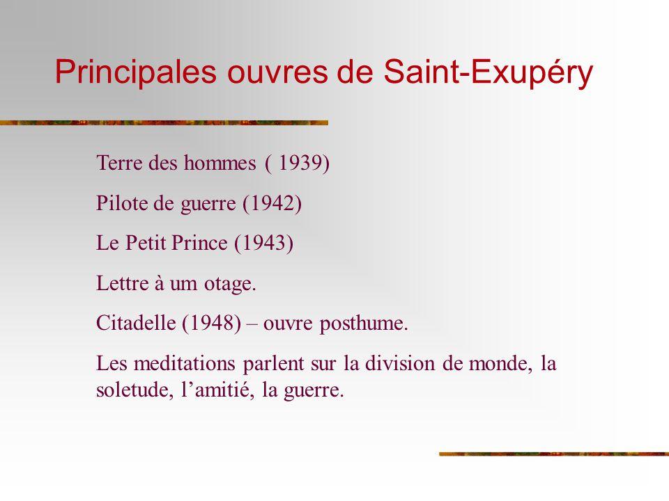 Principales ouvres de Saint-Exupéry