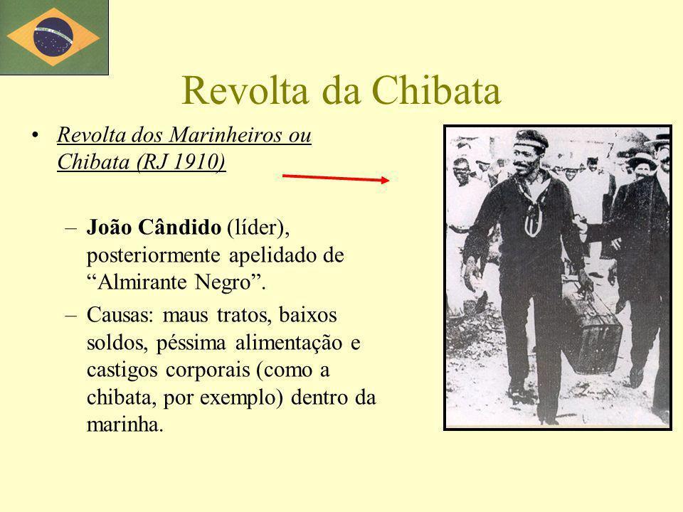 Revolta da Chibata Revolta dos Marinheiros ou Chibata (RJ 1910)