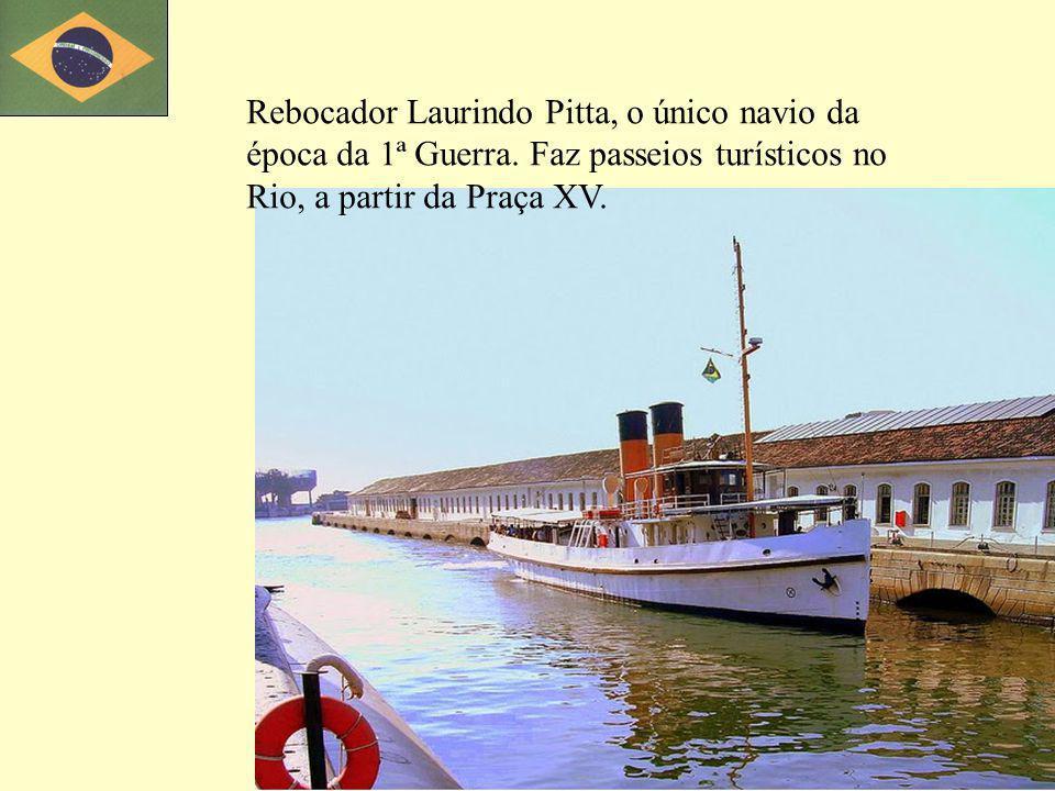 Rebocador Laurindo Pitta, o único navio da época da 1ª Guerra