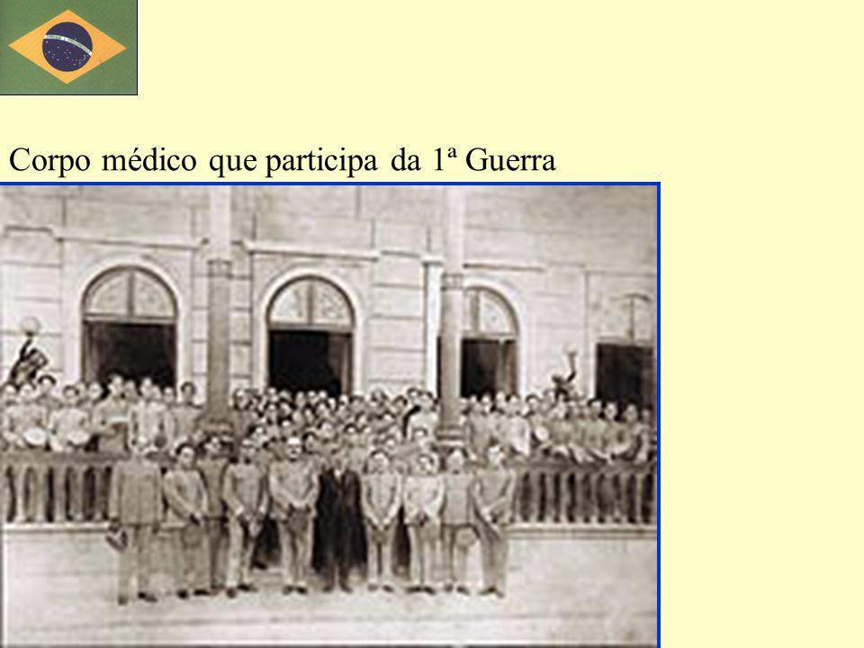 Corpo médico que participa da 1ª Guerra
