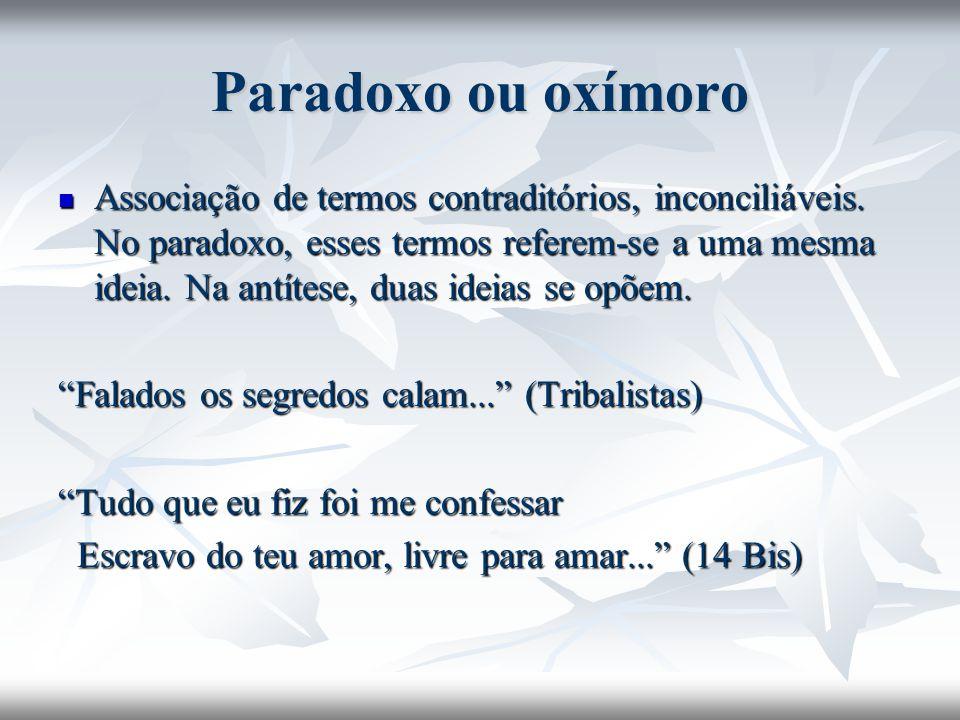 Paradoxo ou oxímoro