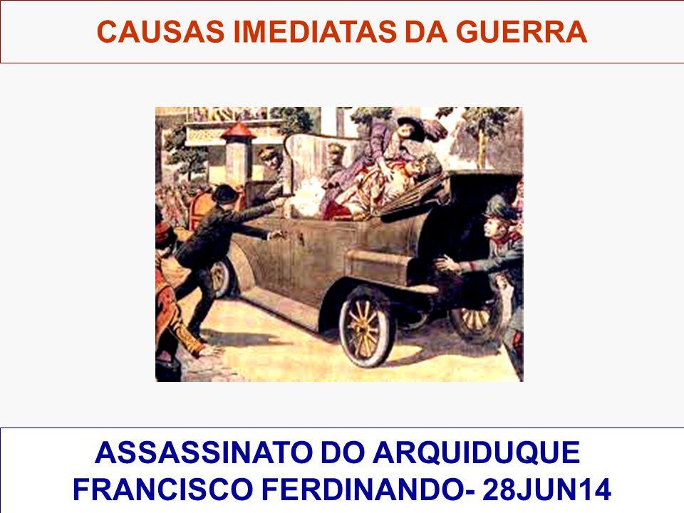 CAUSAS IMEDIATAS DA GUERRA