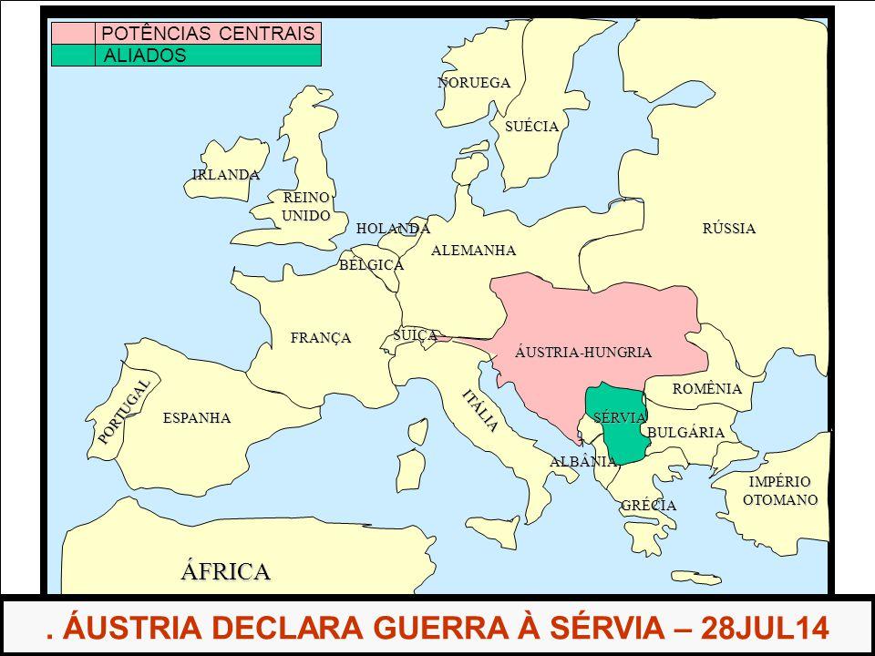 . ÁUSTRIA DECLARA GUERRA À SÉRVIA – 28JUL14