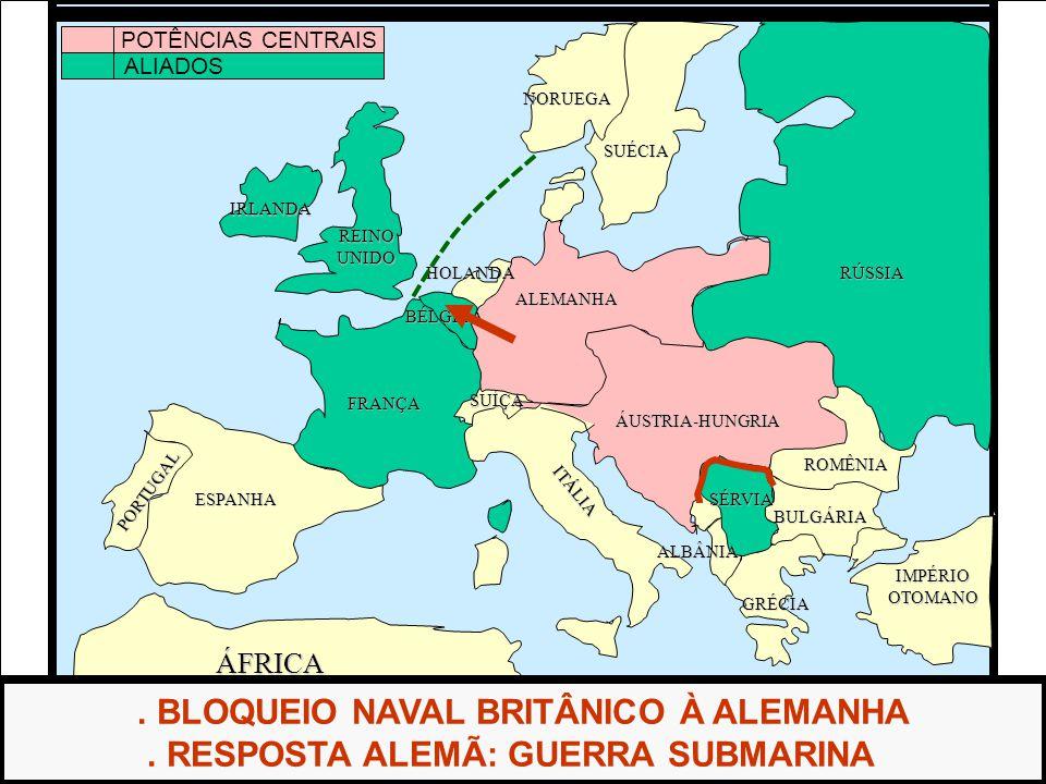 . BLOQUEIO NAVAL BRITÂNICO À ALEMANHA