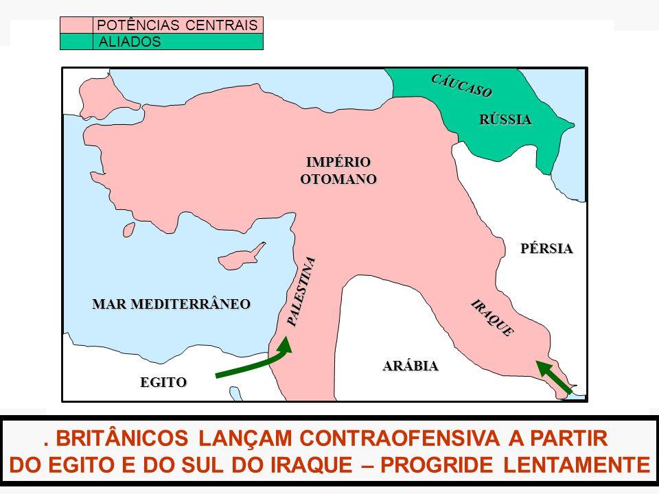 . BRITÂNICOS LANÇAM CONTRAOFENSIVA A PARTIR