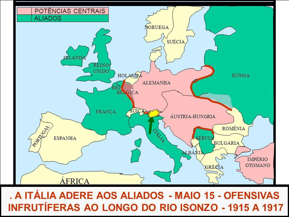 . A ITÁLIA ADERE AOS ALIADOS - MAIO 15 - OFENSIVAS
