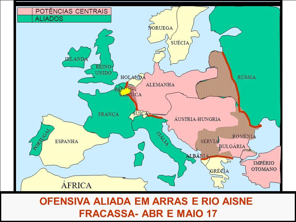 OFENSIVA ALIADA EM ARRAS E RIO AISNE