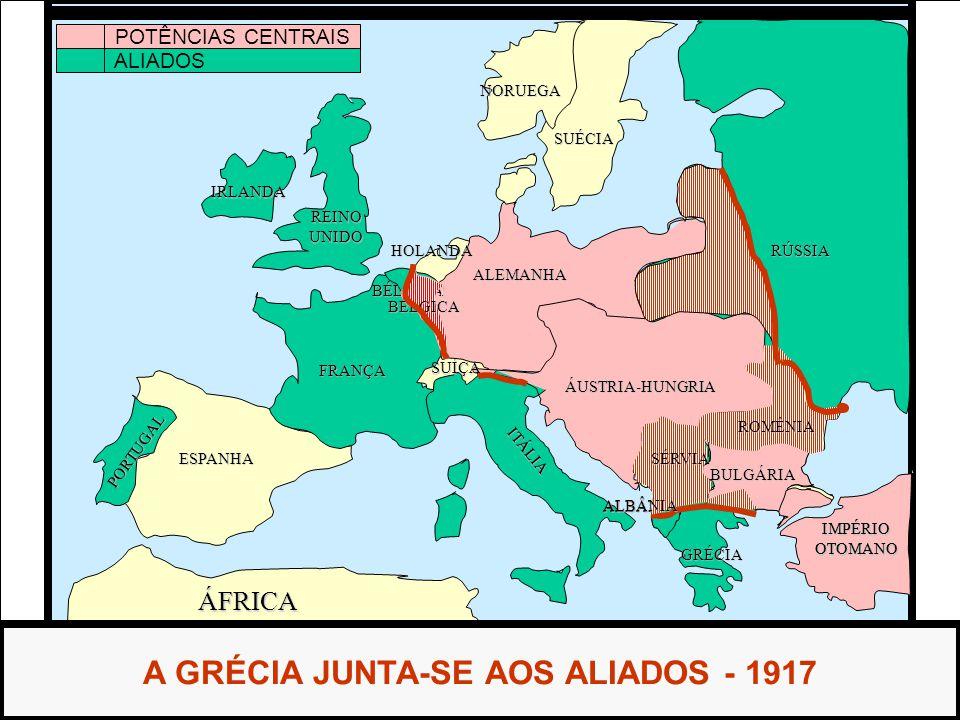 A GRÉCIA JUNTA-SE AOS ALIADOS - 1917