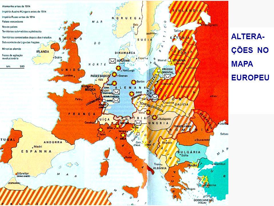 ALTERA-ÇÕES NO MAPA EUROPEU