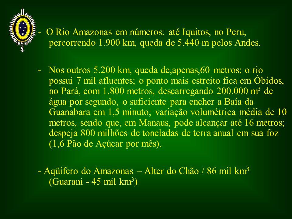 - O Rio Amazonas em números: até Iquitos, no Peru, percorrendo 1