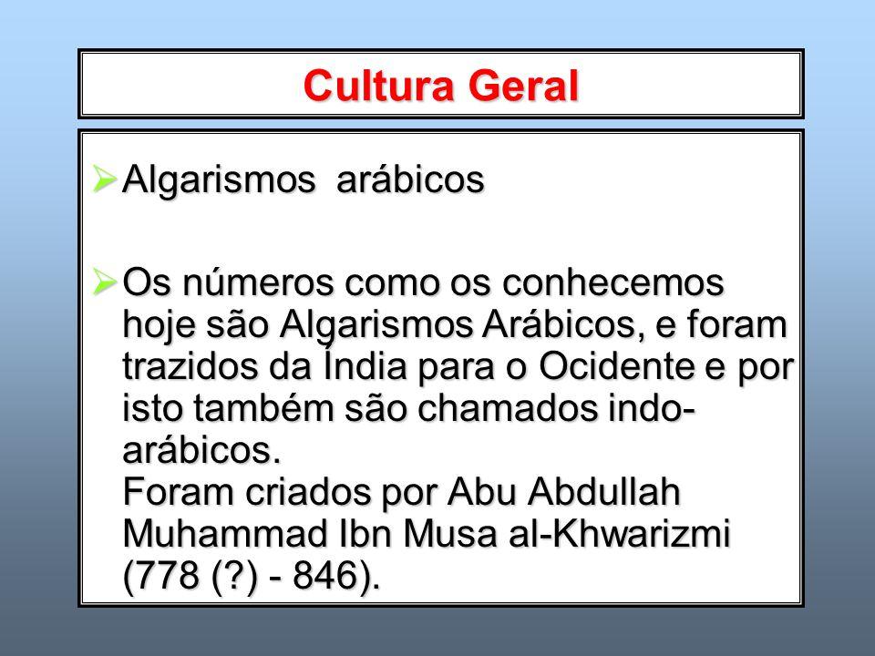 Cultura Geral Algarismos arábicos