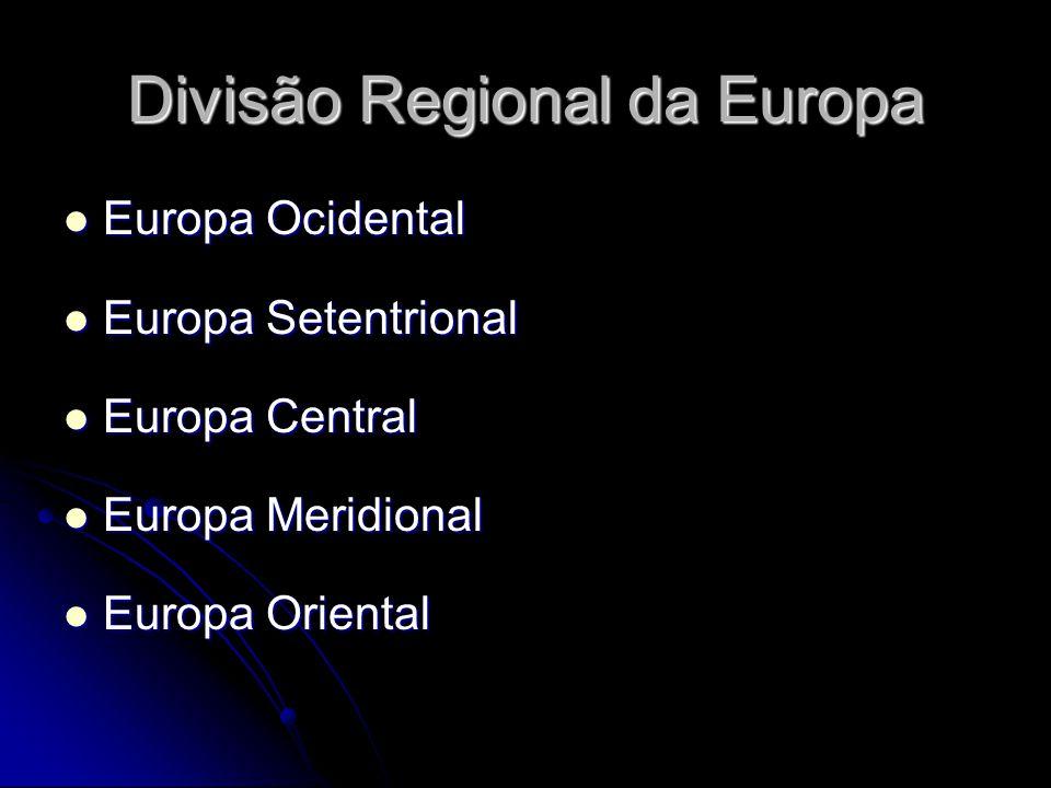 Divisão Regional da Europa