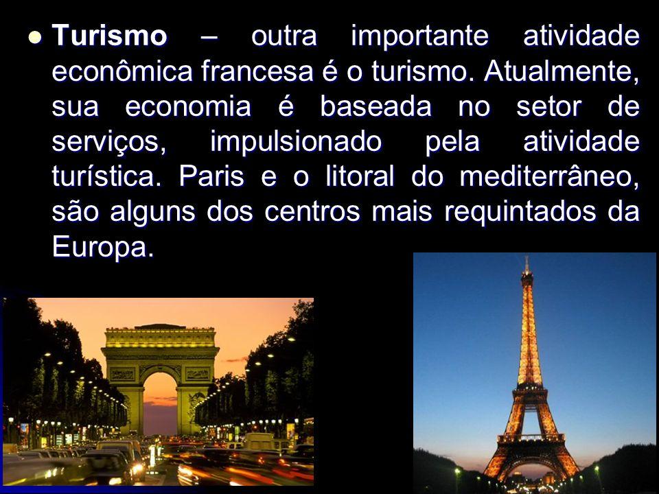 Turismo – outra importante atividade econômica francesa é o turismo