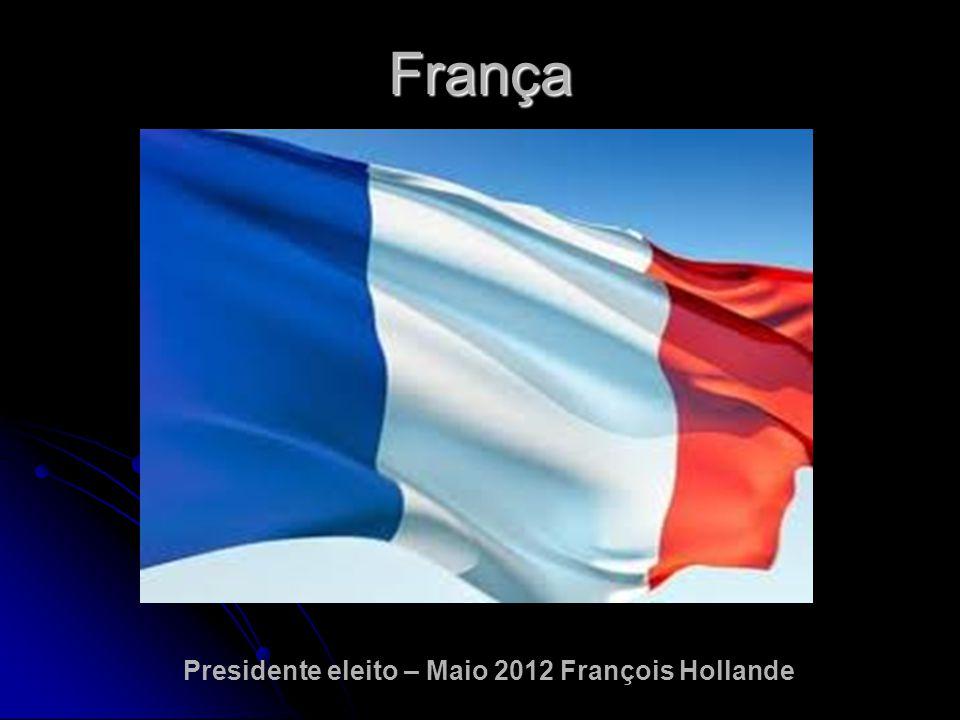 Presidente eleito – Maio 2012 François Hollande