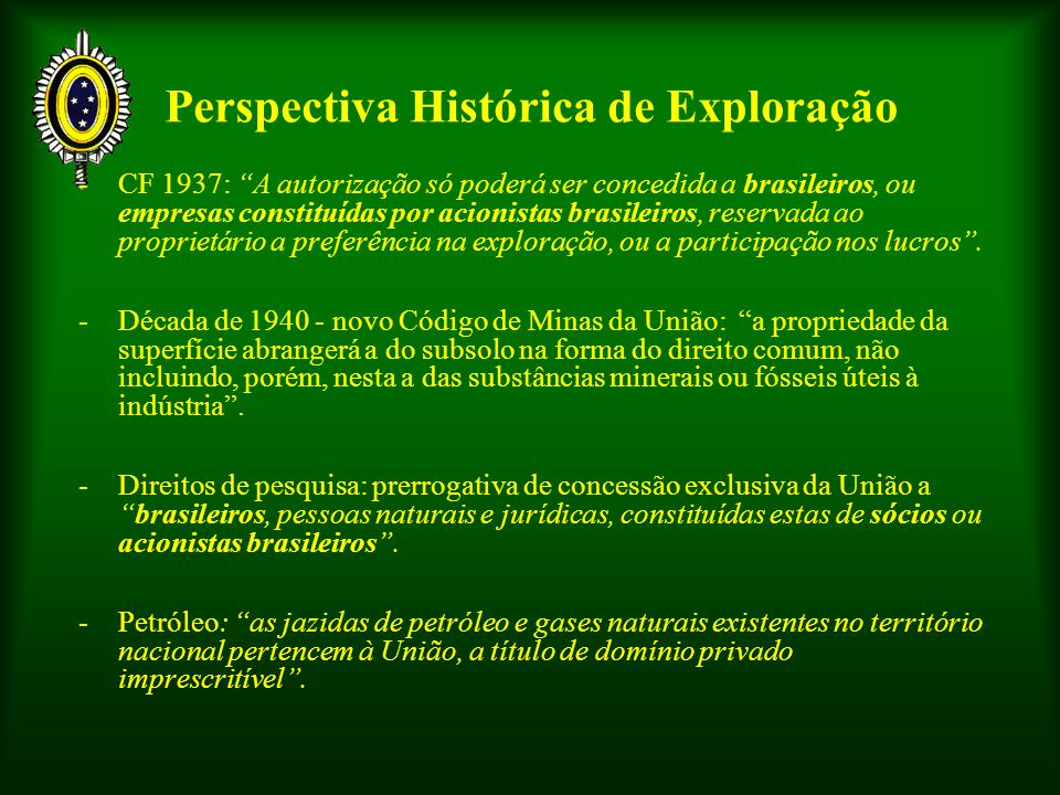 Perspectiva Histórica de Exploração