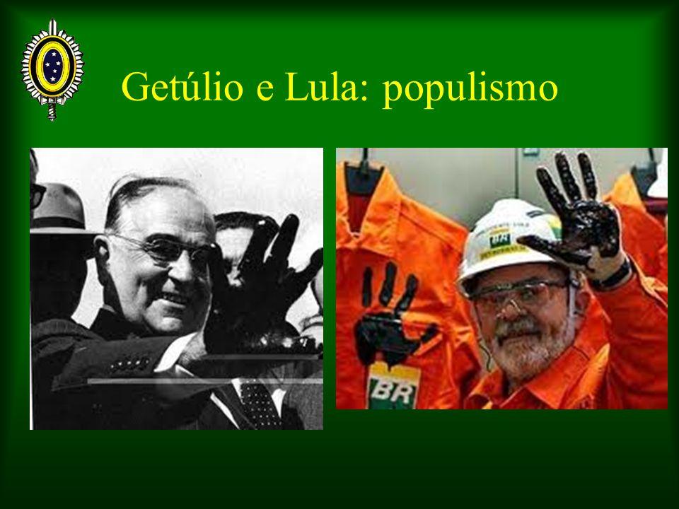 Getúlio e Lula: populismo