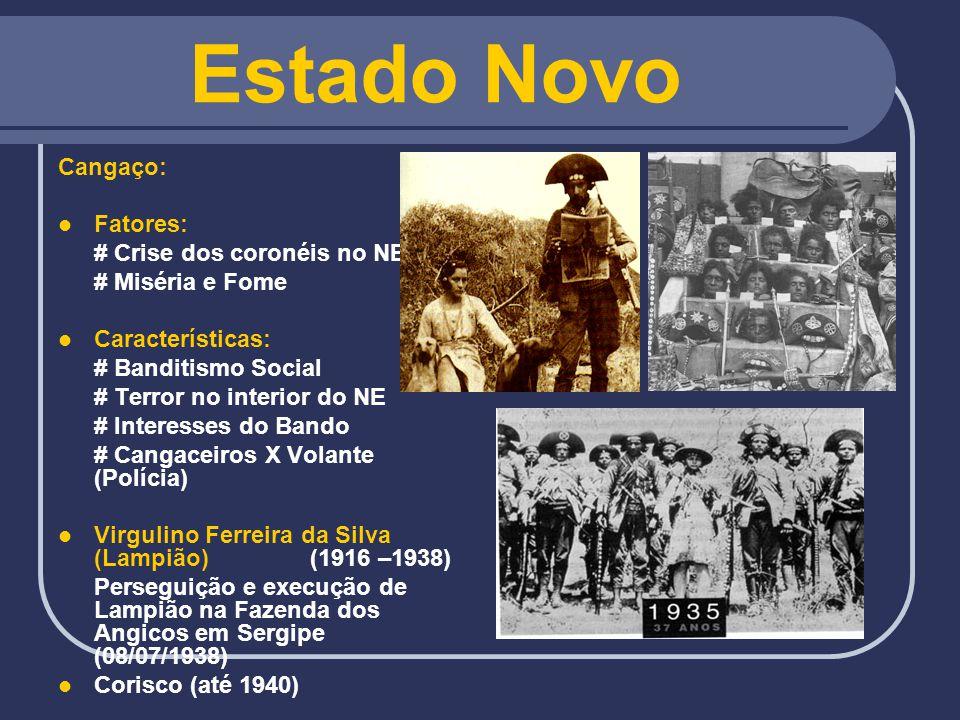 Estado Novo Cangaço: Fatores: # Crise dos coronéis no NE