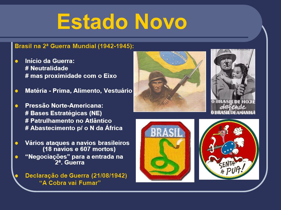 Estado Novo Brasil na 2ª Guerra Mundial (1942-1945): Início da Guerra: