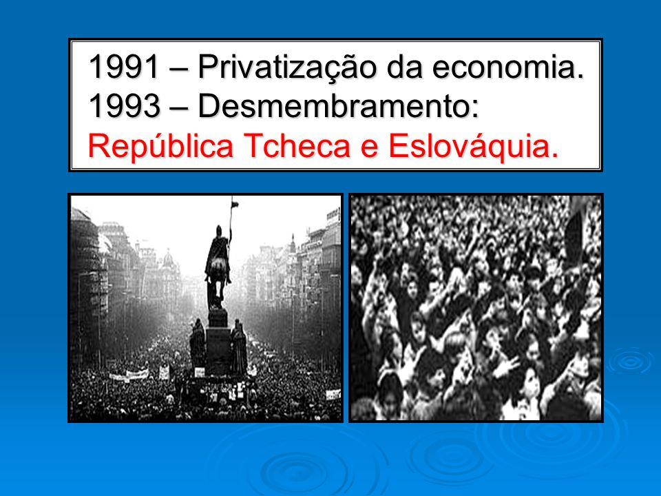 1991 – Privatização da economia