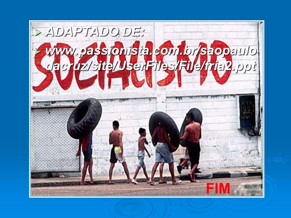 ADAPTADO DE: www.passionista.com.br/saopaulodacruz/site/UserFiles/File/fria2.ppt FIM