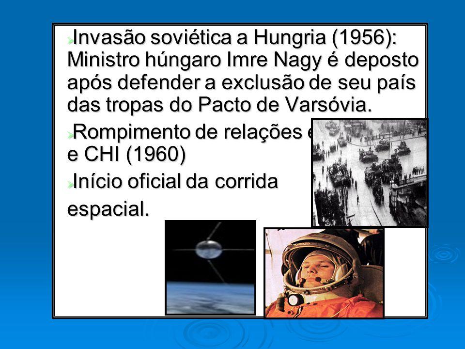 Invasão soviética a Hungria (1956): Ministro húngaro Imre Nagy é deposto após defender a exclusão de seu país das tropas do Pacto de Varsóvia.