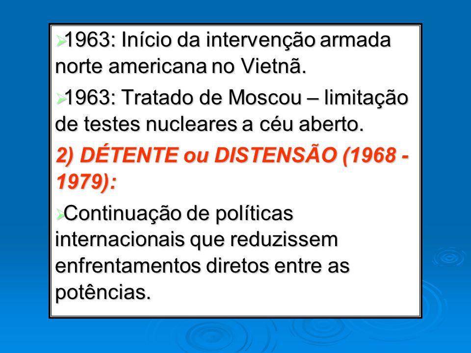1963: Início da intervenção armada norte americana no Vietnã.