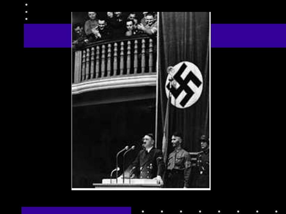 Hitler discursando depois de nomeado chanceler (1º ministro)