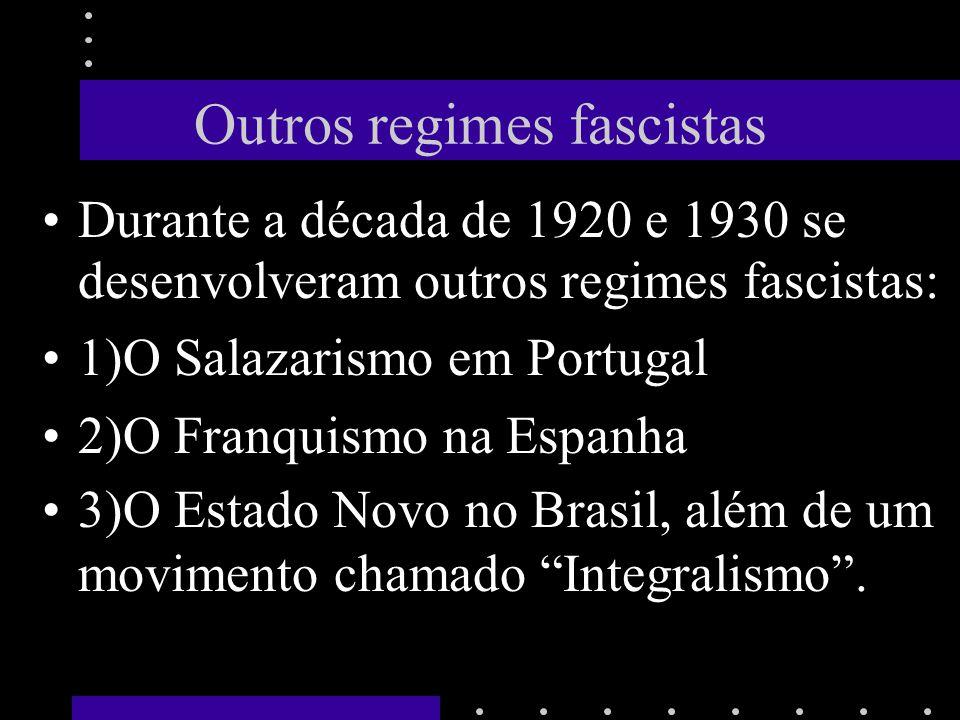 Outros regimes fascistas