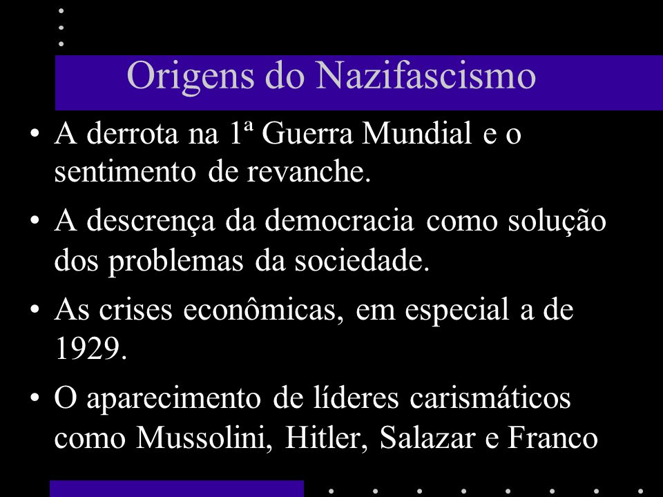 Origens do Nazifascismo