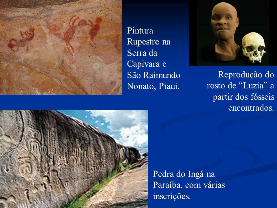 Pintura Rupestre na Serra da Capivara e São Raimundo Nonato, Piauí.