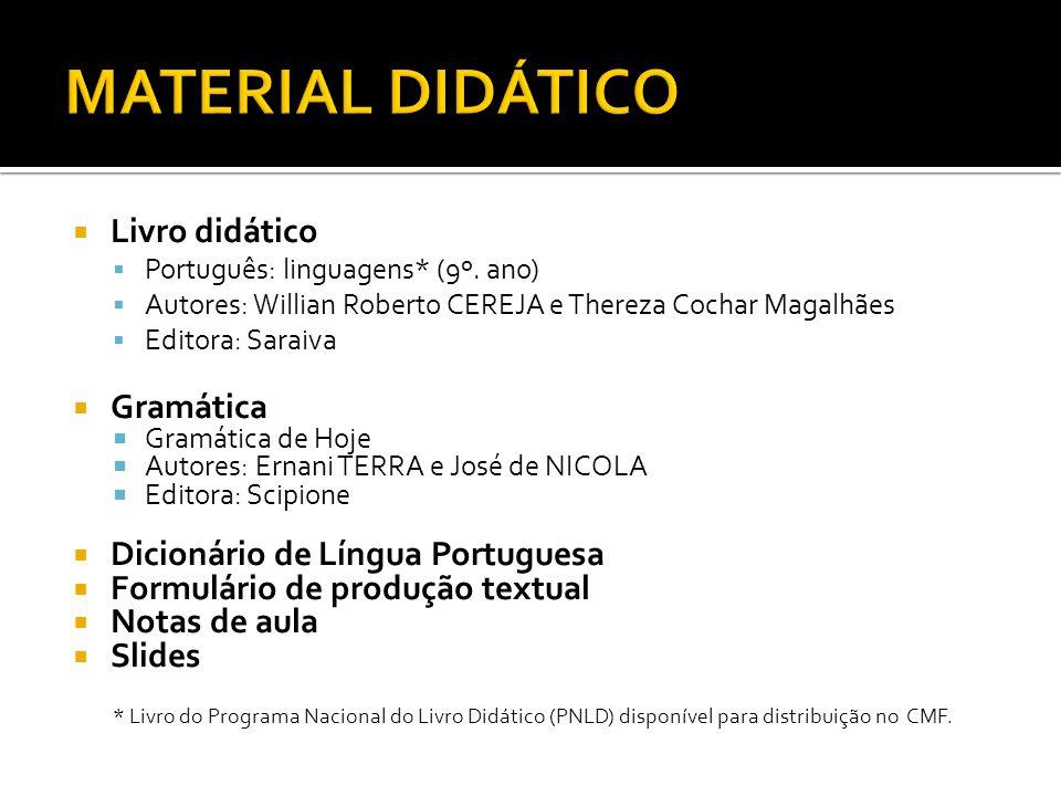 MATERIAL DIDÁTICO Livro didático Gramática