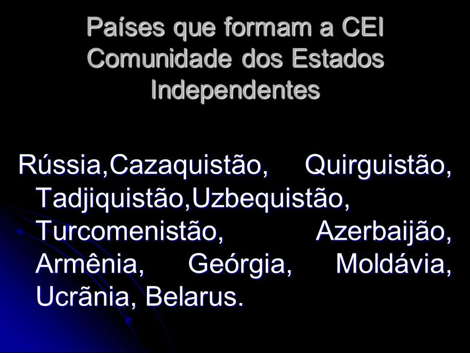 Países que formam a CEI Comunidade dos Estados Independentes