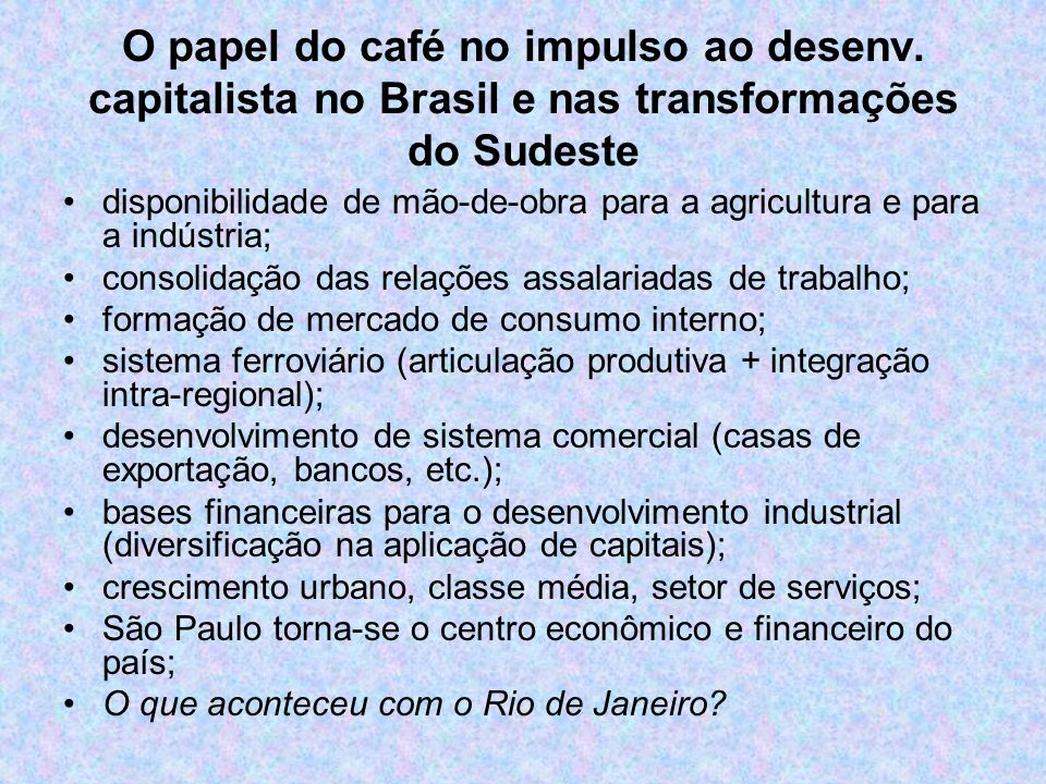 O papel do café no impulso ao desenv