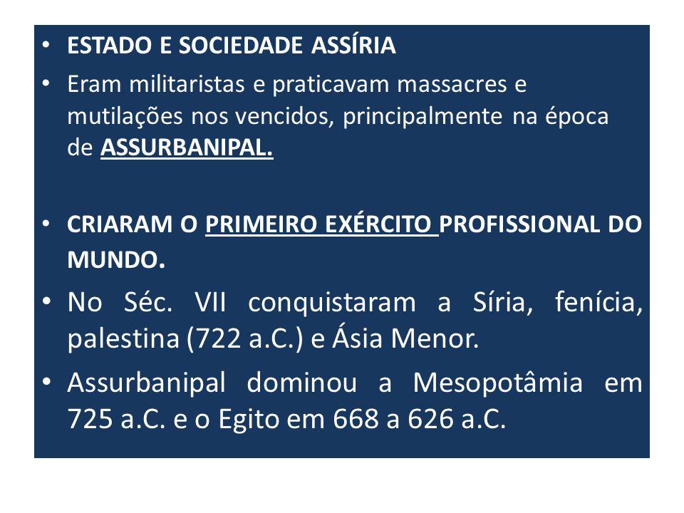 ESTADO E SOCIEDADE ASSÍRIA