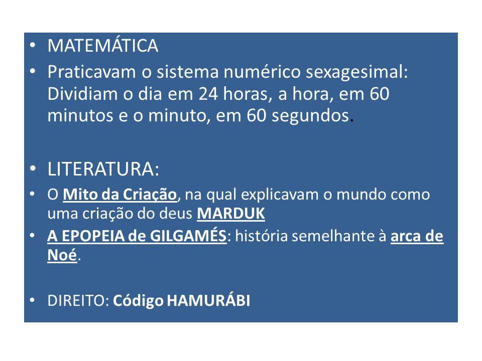 LITERATURA: MATEMÁTICA