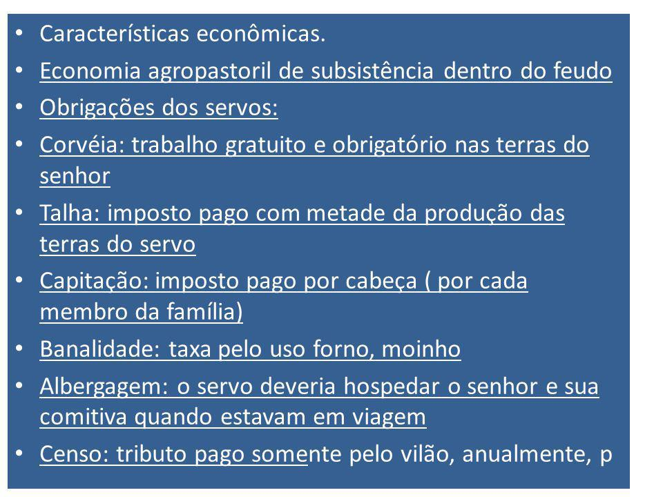 Características econômicas.