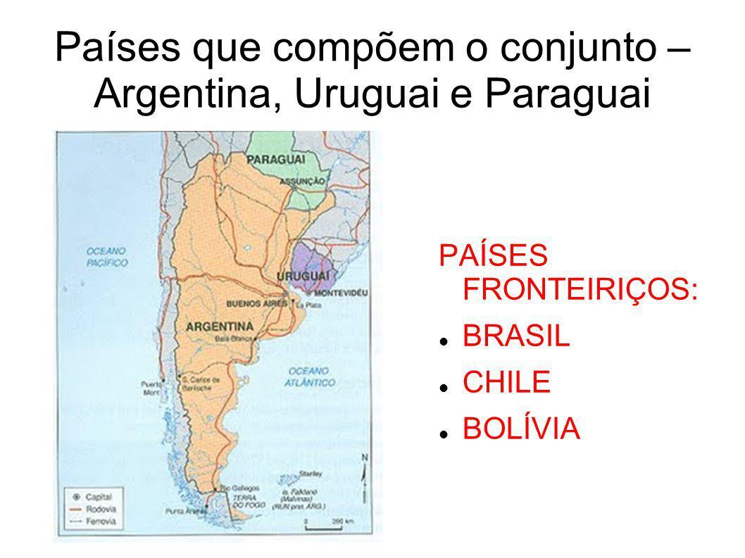 Países que compõem o conjunto – Argentina, Uruguai e Paraguai
