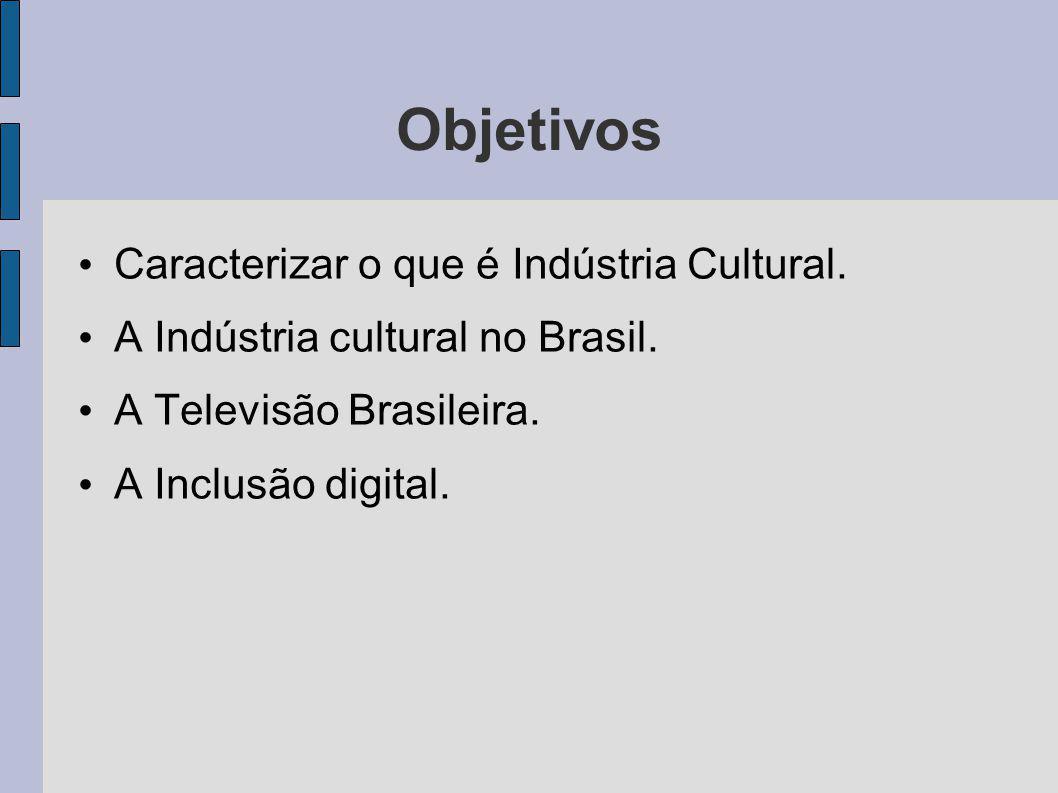 Objetivos Caracterizar o que é Indústria Cultural.