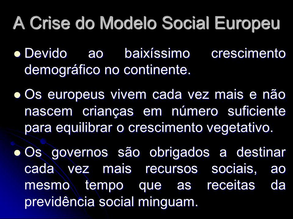 A Crise do Modelo Social Europeu