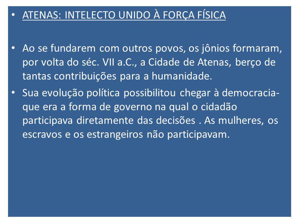 ATENAS: INTELECTO UNIDO À FORÇA FÍSICA