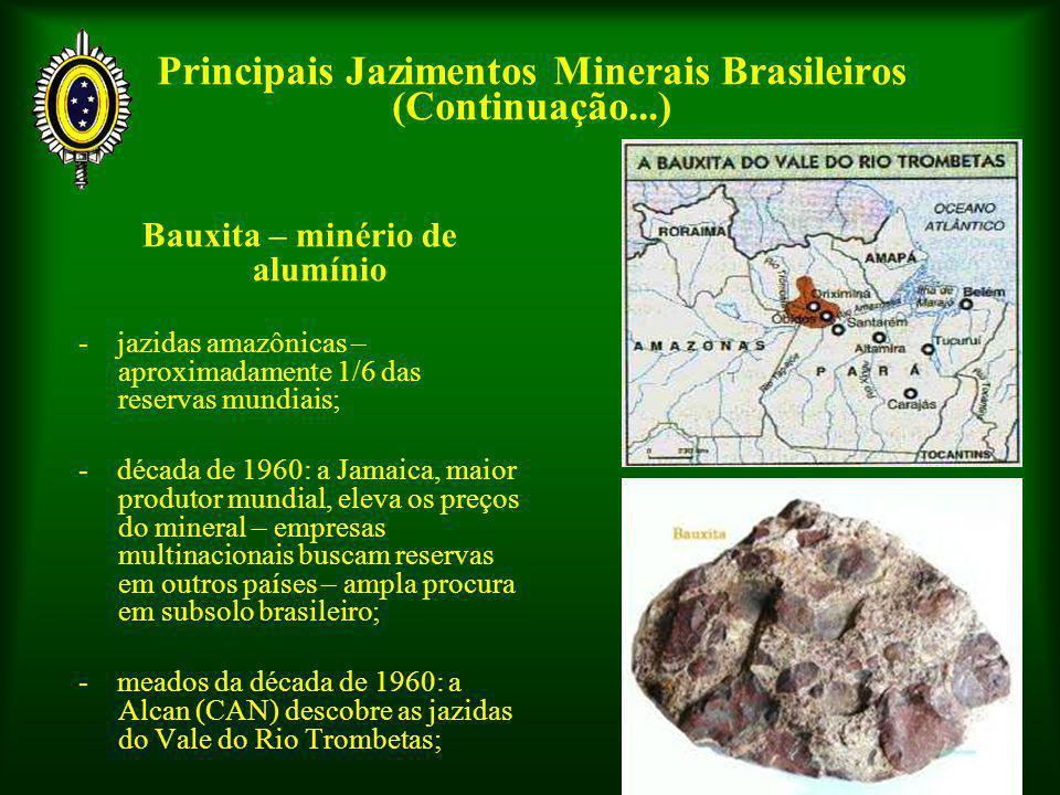 Principais Jazimentos Minerais Brasileiros (Continuação...)