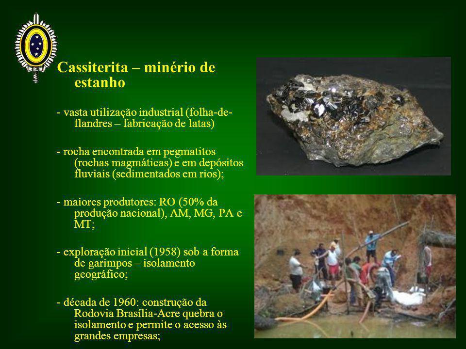 Cassiterita – minério de estanho