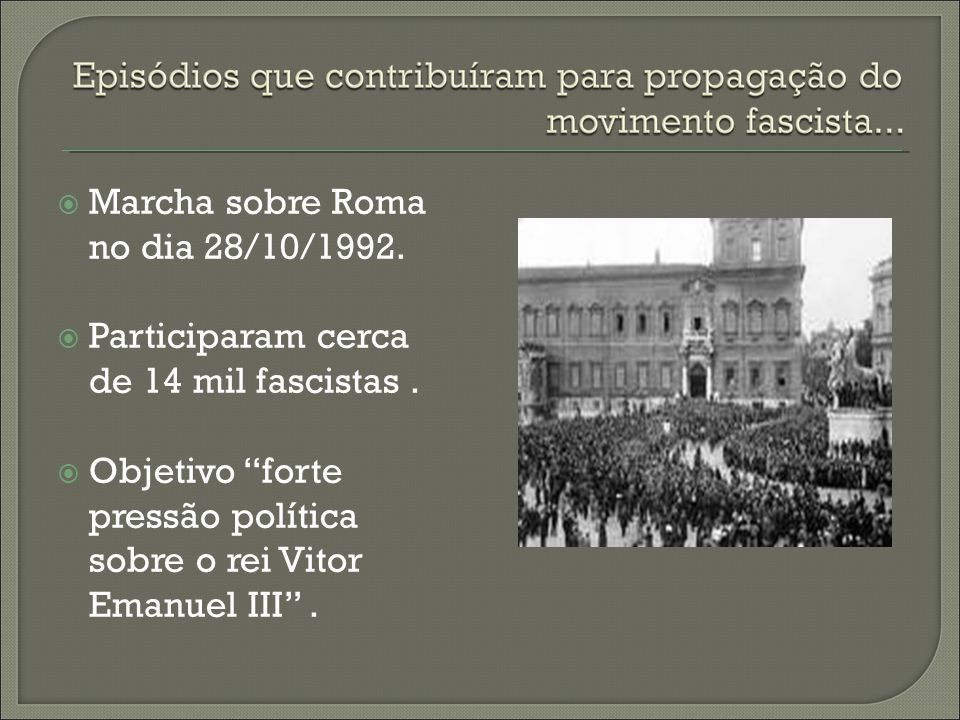 Marcha sobre Roma no dia 28/10/1992.