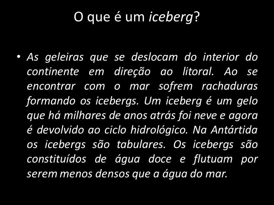 O que é um iceberg