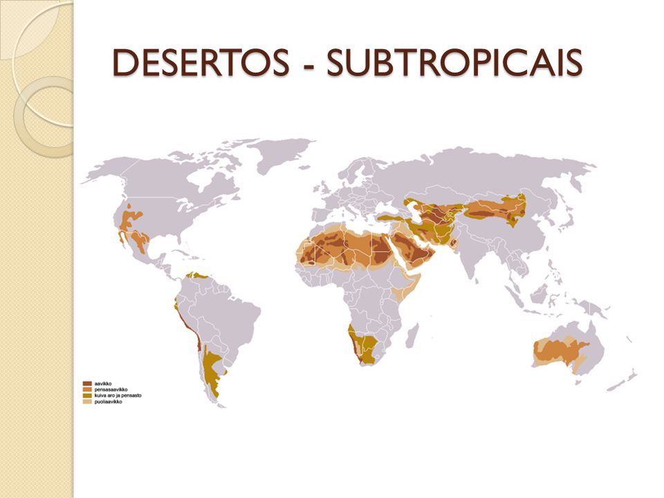 DESERTOS - SUBTROPICAIS