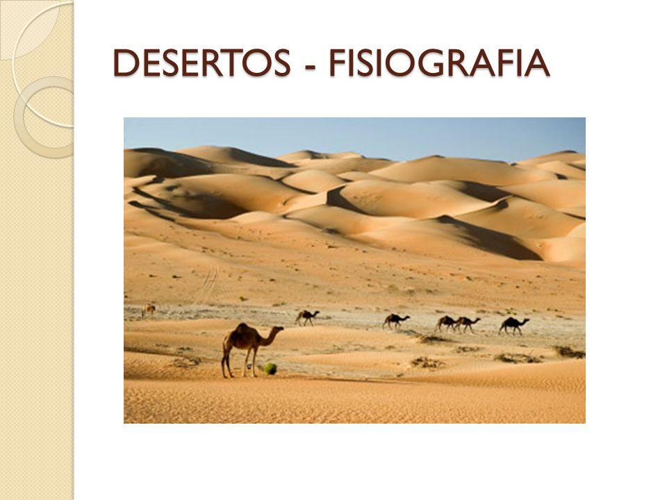 DESERTOS - FISIOGRAFIA