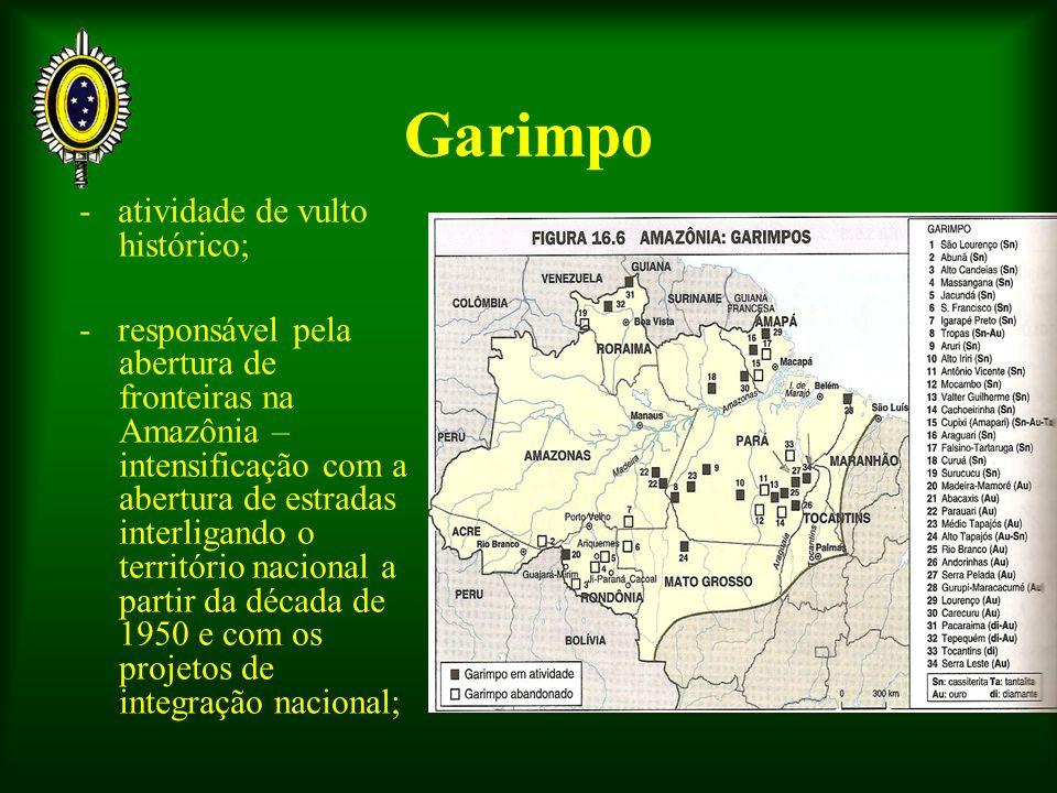 Garimpo - atividade de vulto histórico;
